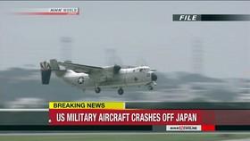 """Một chiếc """"Greyhound"""" C-2 của Hải quân Mỹ, loại bị rơi ở Thái Bình Dương ngày 22-11-2017. Ảnh: NHK"""