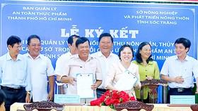 Lễ ký kết tiêu thụ nông sản, thủy sản giữa tỉnh Sóc Trăng và TPHCM