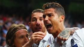 Luka Modric, Sergio Ramos và Cristiano Ronaldo trong màu áo Madrid.