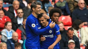 Alvaro Morata, Pedro và Willian có cơ hội ghi dấu ấn ở Stamford Bridge.