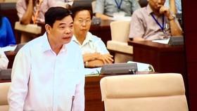 Bộ trưởng Nguyễn Xuân Cường phát biểu tại phiên họp