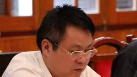 Ông Phạm Sỹ Quý tại buổi công bố kết luận thanh tra chiều 23-10