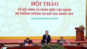 Bộ trưởng Bộ TN-MT Trần Hồng Hà chủ trì Hội thảo