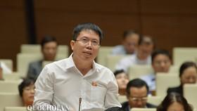 ĐB Nguyễn Văn Hiển (Lâm Đồng)  phát biểu tại phiên họp sáng ngày 19-11