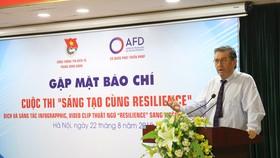 Ông Fabrice Richy, Giám đốc quốc gia AFD tại Việt Nam phát biểu tại họp báo