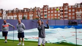 Romeo được mẹ tạo mọi điều kiện để trở thành ngôi sao quần vợt trong tương lai