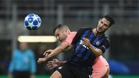 國際米蘭主場1比1戰平巴塞羅那。