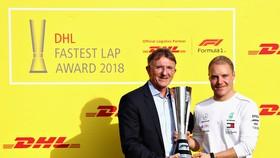 Valtteri Bottas (phải) ở Abu Dhabi hồi tháng
