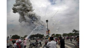 Four workers killed in fireworks explosion in My Dinh National Stadium