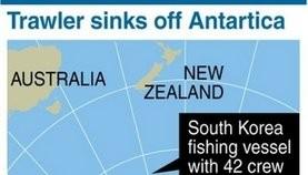 Five dead, 17 missing as S.Korean boat sinks off Antarctica