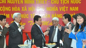 President visits HCM City's top businesses over Tet