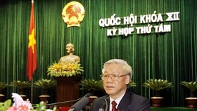 Party leader Trong announces Central Committee Secretariat