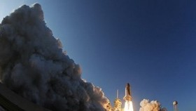 Discovery shuttle blasts off on last space odyssey