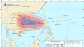 Super typhoon Nalgae moving towards Vietnam