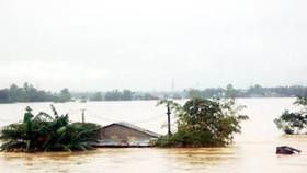 Central region immersed under floodwaters