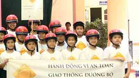 Campaign instills wearing of helmets compulsory for children