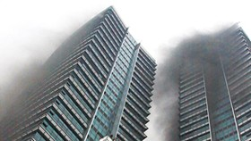 33-storey vacant building in Hanoi goes up in flames