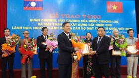 Laos honors leaders of Vietnam Fatherland Front