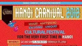 'Hanoi Carnival 2012' to feature multi-national cultures