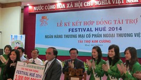 Vietcombank supports Hue Festival 2014 with VND3 billion