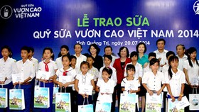 Free milk donated to needy children in Quang Tri