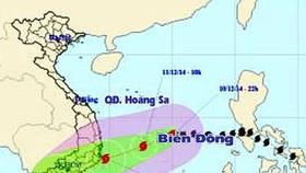 Bão số 5 đe dọa Nam Trung bộ