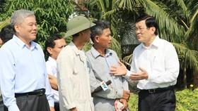 President Sang encourages Mekong Delta development