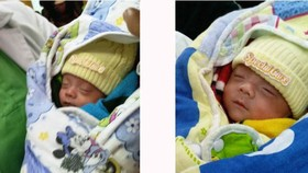 Underweight IVF twins discharged