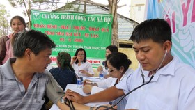 Over 1,000 disadvantaged people received free treatment, medicines