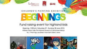 Children's painting exhibition aims to raise fund for mountainous poor children