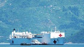 US Naval Hospital Ship arrives in Da Nang