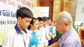 Scholarships given to needy, disabled children
