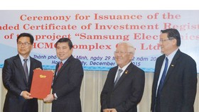 Samsung increases investment up to US$2 billion in SHTP