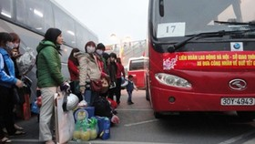 20,000 workers receive free bus ticket to return homeland forTet