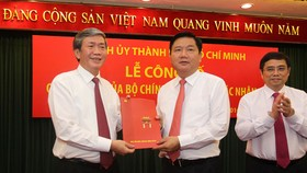 Minister of Transport appointed as Party Chief of Ho Chi Minh City