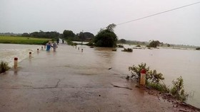 Strong tropical depression brings heavy rains and flash flood