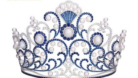 Crown of Miss Vietnam 2016 inlaid with 3,260 sapphires