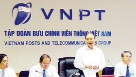 PM urges VNPT to promote restructuring momentum
