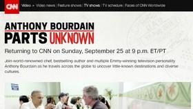 Cảnh Obama ăn bún chả lên chương trình ẩm thực nổi tiếng của CNN ngày 25-9