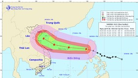 Super typhoon Sarika enters East Sea