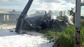 Military plane crashes in Malaysia