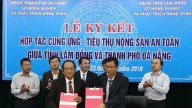 Lam Dong & Danang sign to supply safe agricultural products