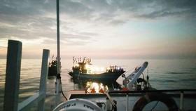 Ứng cứu tàu cá cùng 15 ngư dân gặp nạn trên biển