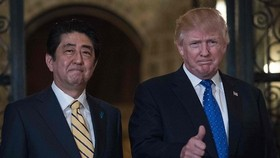 Trump reaffirms U.S. security commitment to Japan after N.K. missile launch