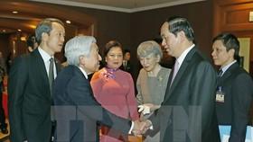 President says good-bye to Japanese royal couple