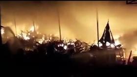 Cháy kho tạm giữ xe của công an Biên Hòa