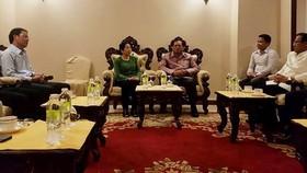 Đồng chí Võ Thị Dung, Phó Bí thư Thành ủy TPHCM đến chào xã giao lãnh đạo tỉnh Champasak