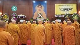 Ban Trị sự Giáo hội Phật giáo Việt Nam TPHCM tổ chức lễ cầu siêu, tưởng niệm Chủ tịch nước Trần Đại Quang