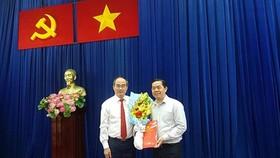 Bí thư Thành ủy TPHCM Nguyễn Thiện Nhân và đồng chí Sử Ngọc Anh