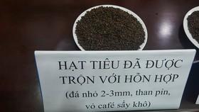 Hạt tiêu sau khi được độn với phế phẩm cà phê trộn pin